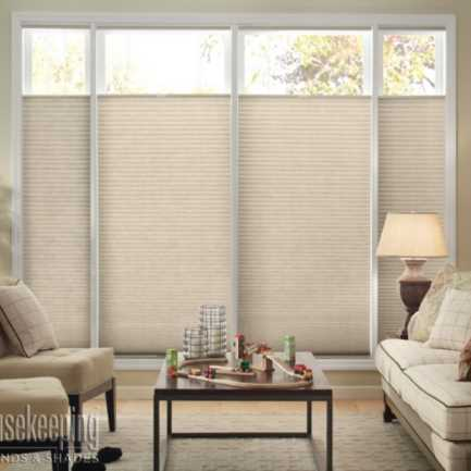 "1/2"" Single Cell (Good Housekeeping) Designer Signature Light Filtering Honeycomb Shades 4342"