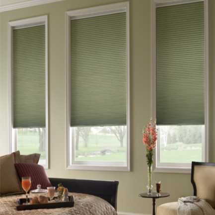 "1/2"" Single Cell Premium Plus Light Filter Honeycomb Shades 4584"
