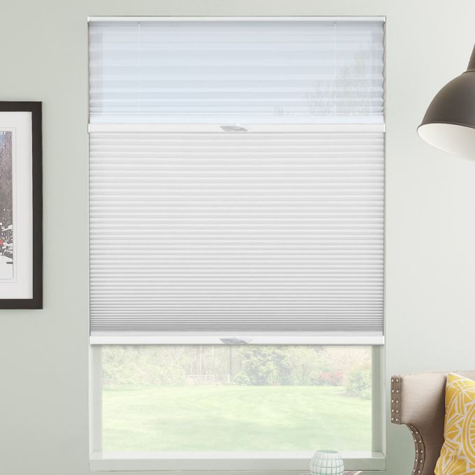 "1/2"" Double Cell Designer Light Filtering Trishade Honeycomb Shades 5423"