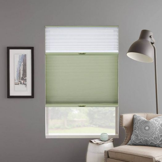 "1/2"" Double Cell Designer Light Filtering Trishade Honeycomb Shades 5426"