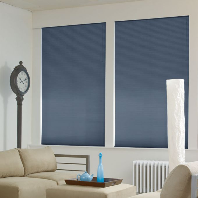 """1/2"""" Double Cell Super Value Blackout Honeycomb Shades 4367"""