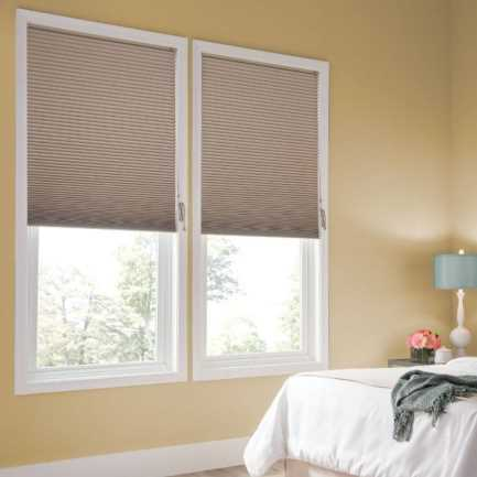"""1/2"""" Double Cell Super Value Blackout Honeycomb Shades 4368 Thumbnail"""