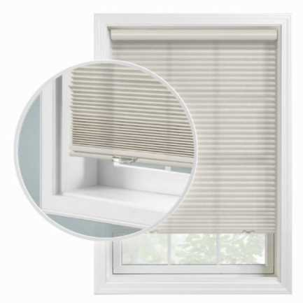 """1/2"""" Double Cell Super Value Blackout Honeycomb Shades 4370 Thumbnail"""