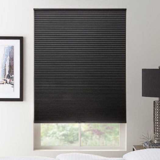 "1/2"" Double Cell Blackout Honeycomb Shades 6100"