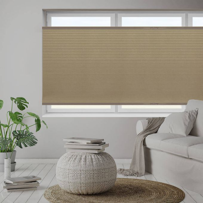 """1/2"""" Double Cell Value Blackout Honeycomb Shades 5561"""