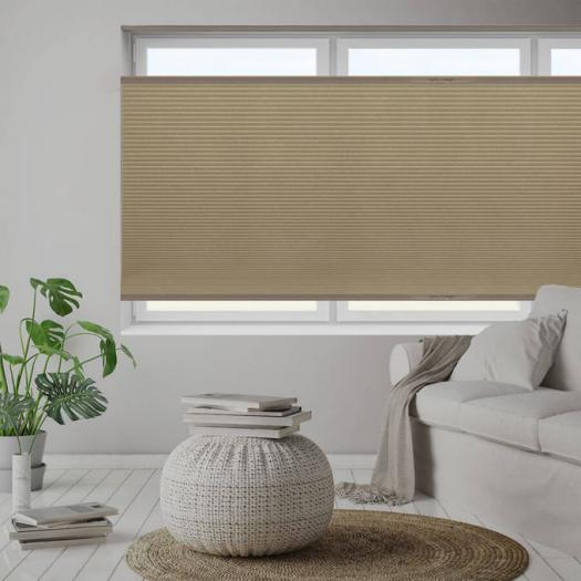 "1/2"" Double Cell Blackout Honeycomb Shades 6102"