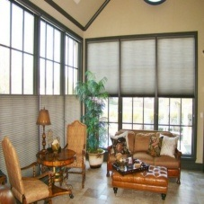 "1/2"" Single Cell (Carriann) Designer Signature Blackout Honeycomb Shades"