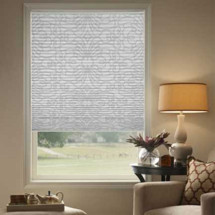 "1/2"" Single Cell (Carriann) Designer Signature Blackout Honeycomb Shades 4262"