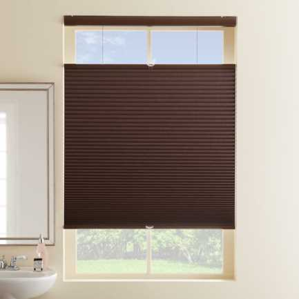 "1/2"" Single Cell Designer Cordless Top Down Bottom Up Blackout Honeycomb Shades 4982"
