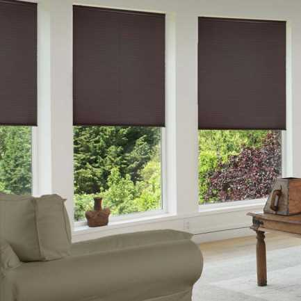 "1/2"" Single Cell Premium Plus Cordless Blackout Honeycomb Shades 5026"