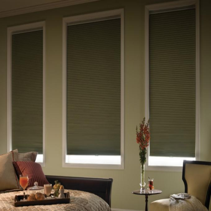 "1/2"" Single Cell Premium Plus Light Filter Honeycomb Shades"