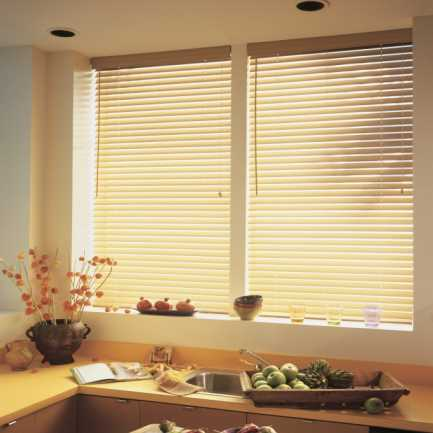 "1"" Premium Faux Wood Blinds 4193"