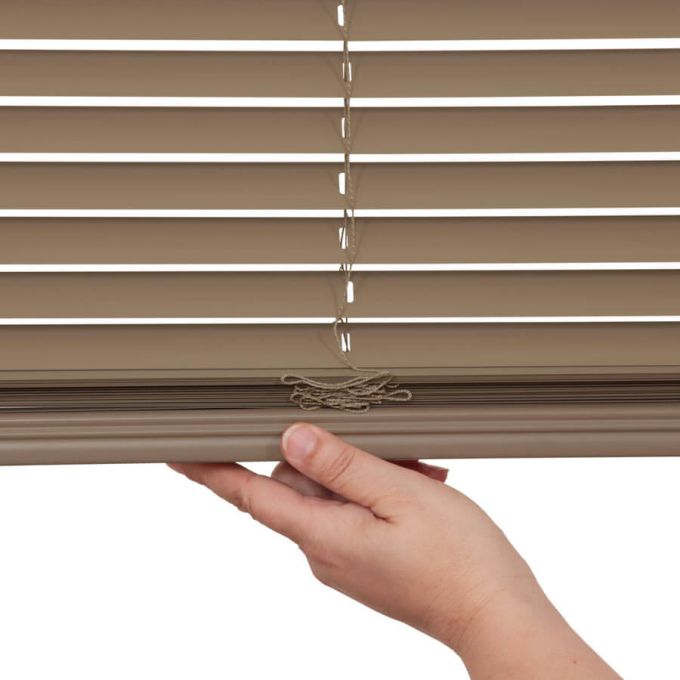 "1"" Designer Cordless Aluminum Blinds 4682"