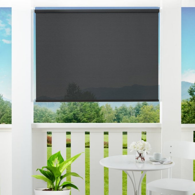1% SheerWeave Value Outdoor Solar Roller Shades 5106