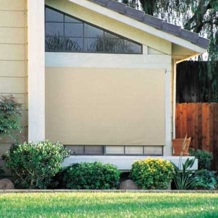 10% SheerWeave Coolaroo Premium Outdoor Solar Roller Shades 4452
