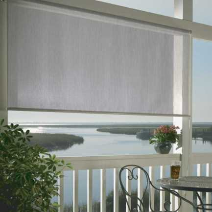 10% SheerWeave Coolaroo Premium Outdoor Solar Roller Shades 4453