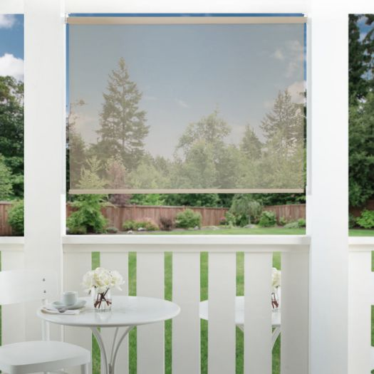 10% SheerWeave Value Outdoor Solar Roller Shades 6991