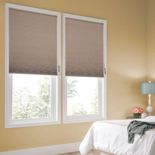 "1/2"" Double Cell Super Value Blackout Honeycomb Shades 4368"