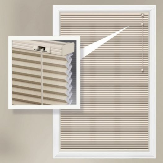 "1/2"" Double Cell Super Value Blackout Honeycomb Shades 4371"