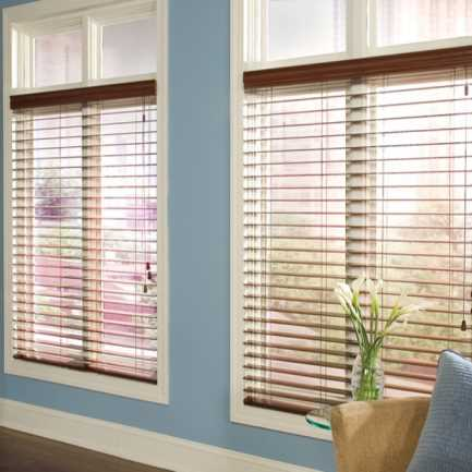 "2 1/2""(Carriann) Designer Signature Faux Wood Blinds1 4326"