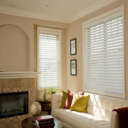 "2 1/2""(Carriann) Designer Signature Faux Wood Blinds1 4327"