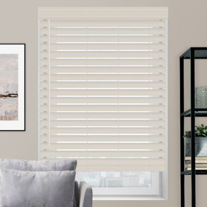 "2 1/2"" Premium Faux Wood Blinds 4593"