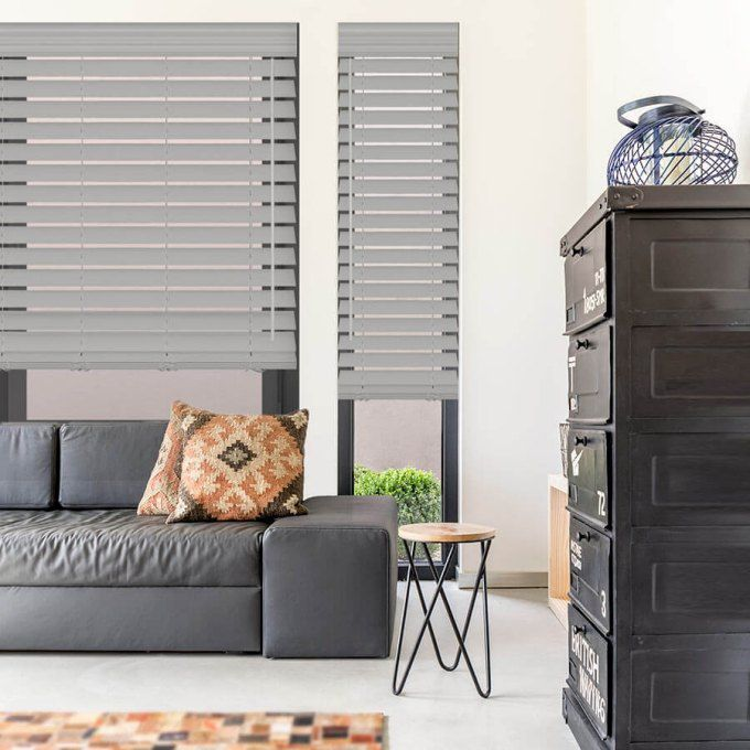 "2 1/2"" Premium Faux Wood Blinds 8052"