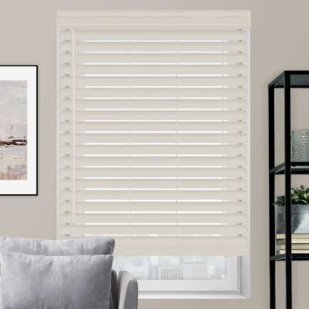 "2 1/2"" Premium Faux Wood Blinds 4593 Thumbnail"
