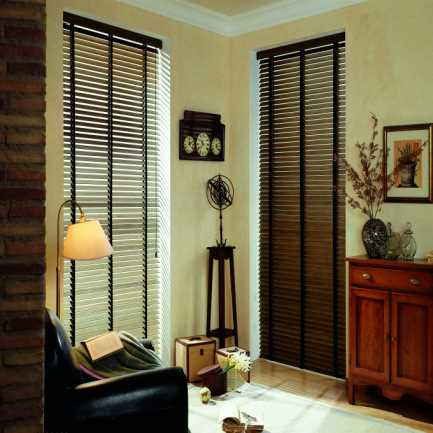 "2"" Designer Faux Wood Blinds 4485"