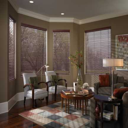 "2"" Designer Faux Wood Blinds 4487"