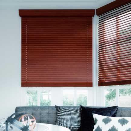 """2"""" Premium Plus Faux Wood Blinds 4565"""