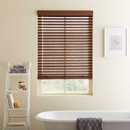 "2"" Designer Faux Wood Blinds 7017"