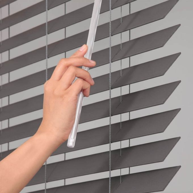 "2"" Designer Faux Wood Blinds 8058"