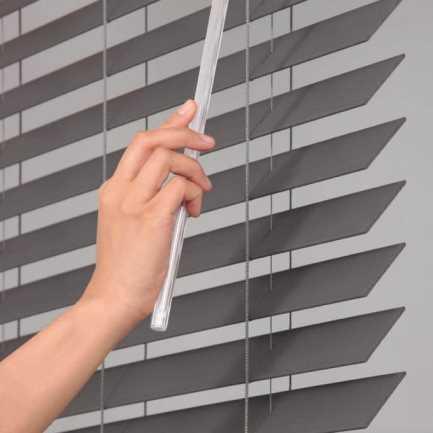 "2"" Designer Faux Wood Blinds 8058 Thumbnail"