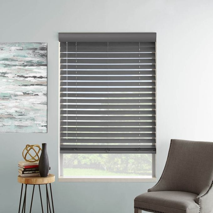 "2"" Designer Faux Wood Blinds 8059"