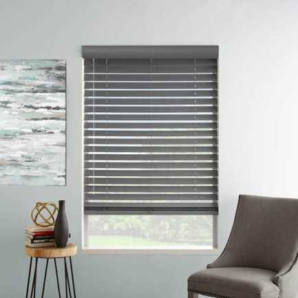 "2"" Designer Faux Wood Blinds 8059 Thumbnail"