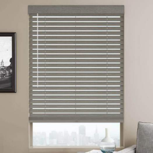 "2"" Designer Faux Wood Blinds 4485 Thumbnail"