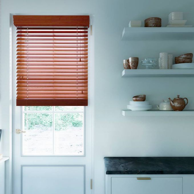 "2"" Designer Faux Wood Blinds 4489"