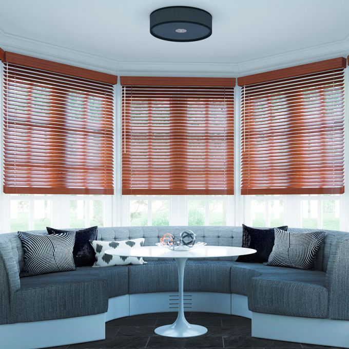 "2"" Designer Faux Wood Blinds 7009"