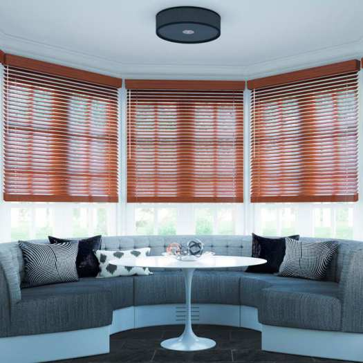 "2"" Designer Faux Wood Blinds 7009 Thumbnail"