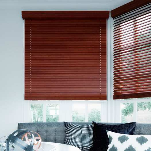 "2"" Designer Faux Wood Blinds 7010"