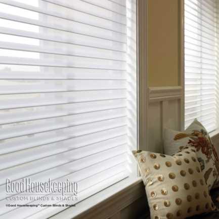 "2"" (Good Housekeeping) Designer Signature Linen Light Filtering Sheer Shades 5186"
