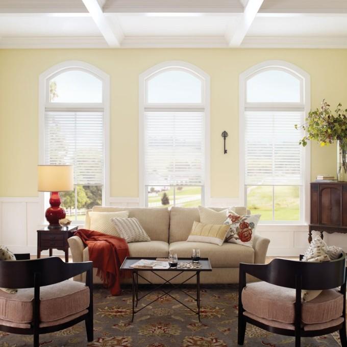 "2"" (Good Housekeeping) Designer Signature Linen Light Filtering Sheer Shades"