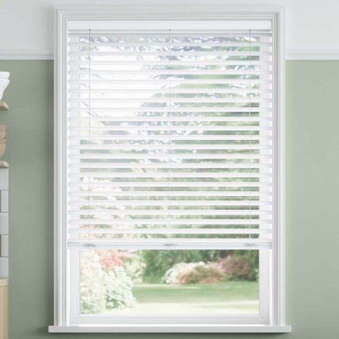 2 Quot Selectwave Cordless Faux Wood Blinds