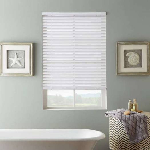 "2"" SelectWave Cordless Faux Wood Blinds 4794 Thumbnail"