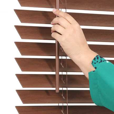 "2"" Value Cordless Faux Wood Blinds 6956"