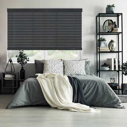 "2"" Value Cordless Faux Wood Blinds 6947"