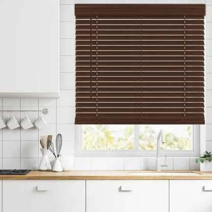 "2"" Value Cordless Faux Wood Blinds 6949 Thumbnail"