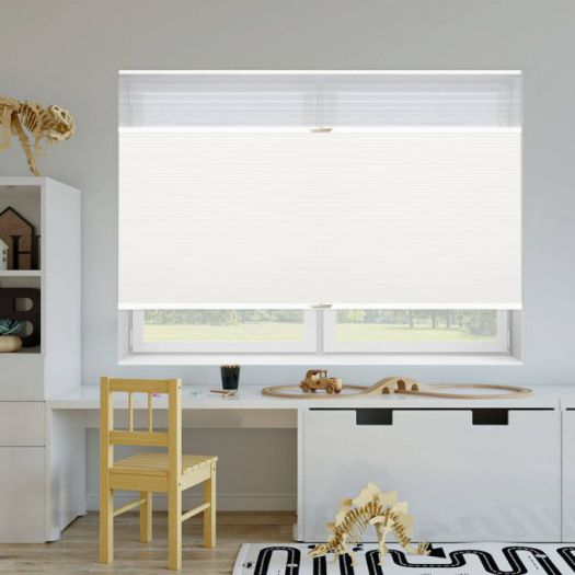 "3/4"" Single Cell Designer Blackout Trishade Honeycomb Shades 5444"