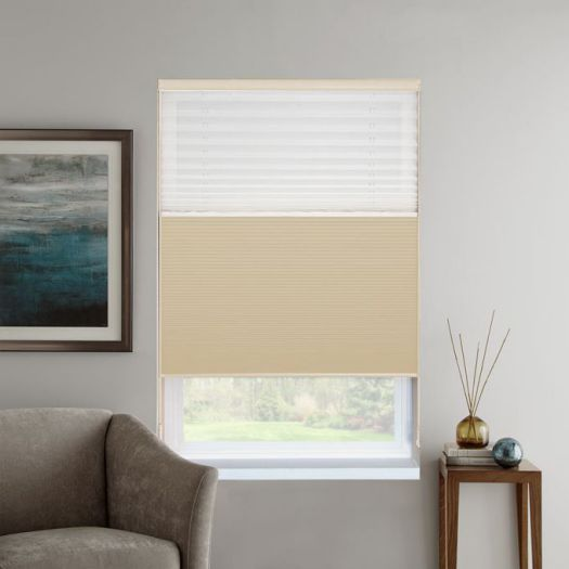 "3/4"" Single Cell Designer Blackout Trishade Honeycomb Shades 5445"